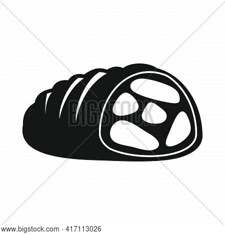 Vector Meatloaf Black Simple Icon Isolated On White