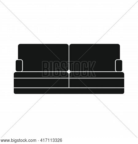 Vector Sofa For Home Black Simple Icon Isolated