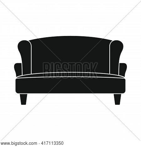 Vector Salon Sofa Black Simple Icon Isolated