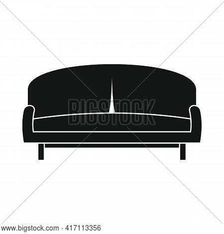 Vector Parlor Sofa Black Simple Icon Isolated