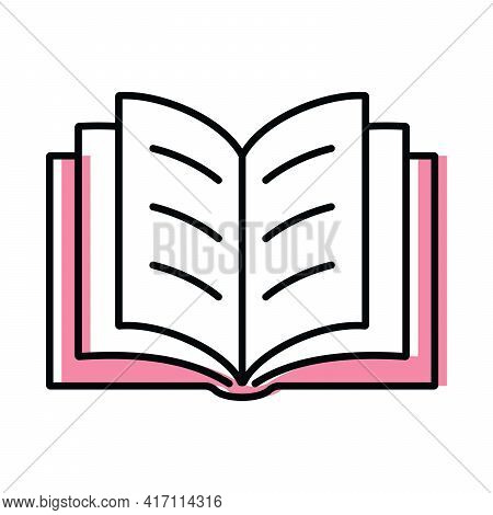 Book. Science And Education. Color Vector Icon In Flat Style
