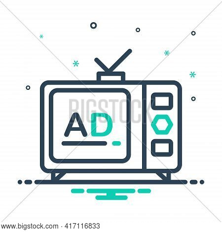 Mix Icon For Television-ads Television Ads Advertisement Broadcast Technology