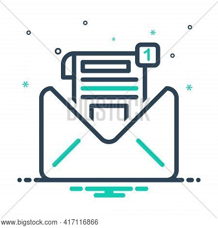 Mix Icon For Inbox-message Inbox Message Notification Communication Envelope Reminder