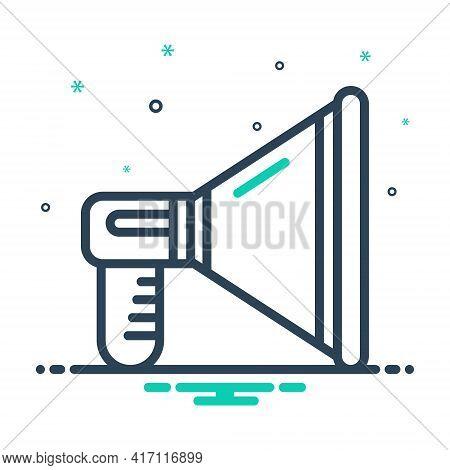 Mix Icon For Promotion Loudspeaker Megaphone Announce Publicity Marketing Announcement