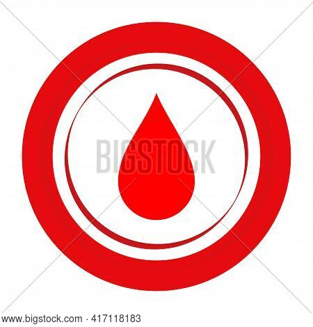 World Blood Donor Day. Medical Design Concept For 14 June. Banner With Text And Red Blood Drop.