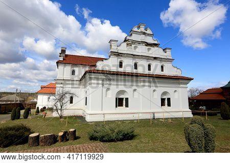 Main buiding in Bohdan Khmelnytskyi residence, famous historcal complex in Chyhyryn town, Ukraine