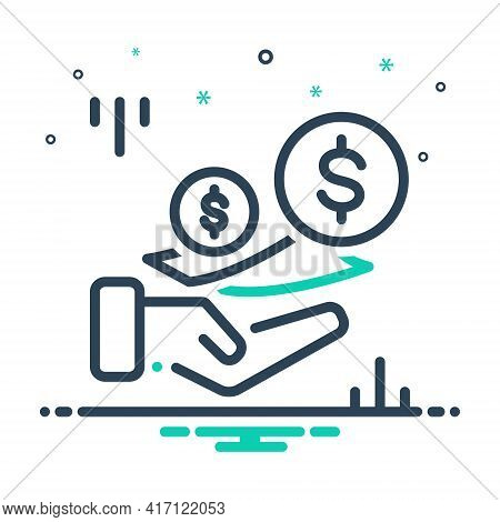 Mix Icon For Fees Charges Costs  Payment Currency Text Wages Living Wage