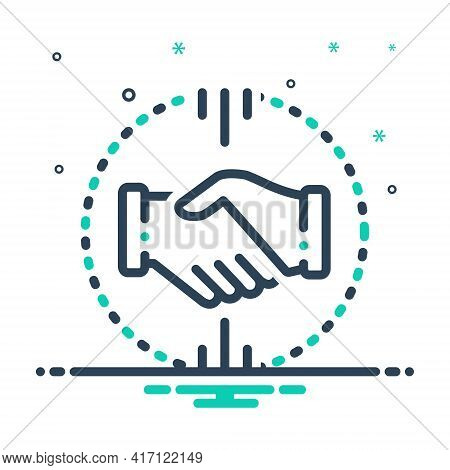 Mix Icon For Acquisitions  Mergers  Acquirer  Partnership Handshake
