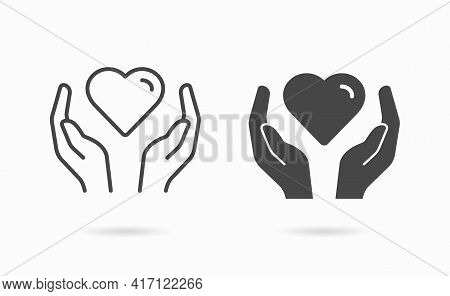 Charity Icon. Symbol Of Solidarity, Help, Care. Illustration For Graphic And Web Design.