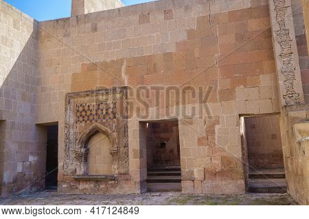 Inner Rooms In Restored Seljuk Palace In Medieval City Ani, Near Kars, Turkey. Palace Built In 12 Ce