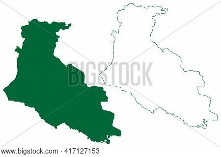 East Singhbhum District (jharkhand State, Republic Of India, Kolhan Division) Map Vector Illustratio