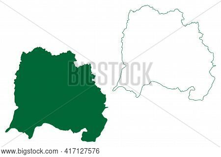 West Singhbhum District (jharkhand State, Republic Of India, Kolhan Division) Map Vector Illustratio