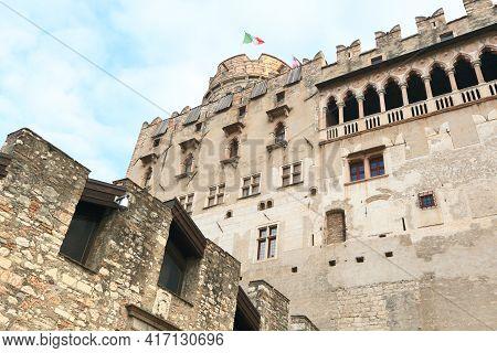 Buonconsiglio Castle, Landmark In Trento Of Northern Italy