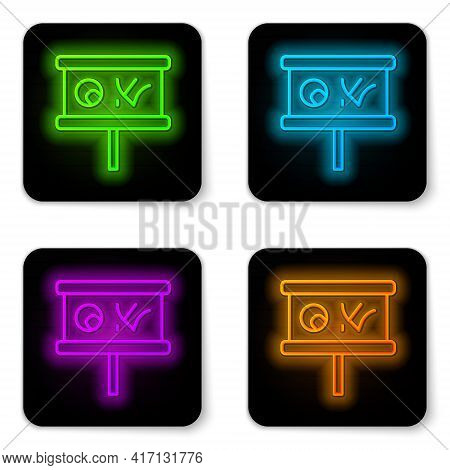 Glowing Neon Line Planning Strategy Concept Icon Isolated On White Background. Baseball Cup Formatio