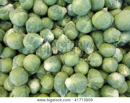 Pile Of Brussel Sprouts
