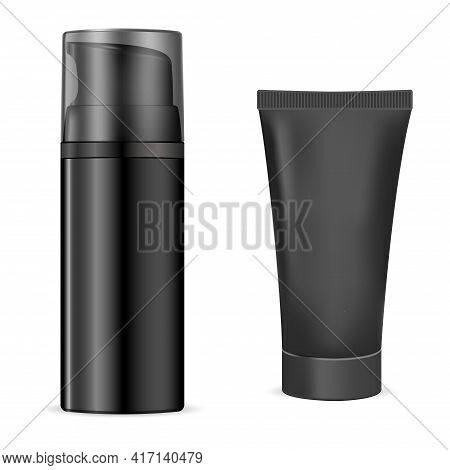 Shave Bottle. Charcoal Cosmetic Gel, Body Moisture. Cleanser Liquid And Moisturizing Packaging, Faci