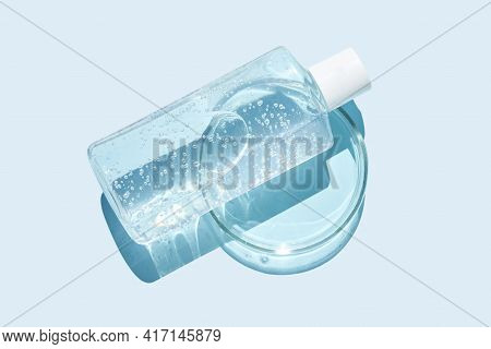 Luqiud Cosmetic Product. Jelly Bubble Transparent Toner. Makeup Cleaner. Aqua Hair Conditioner