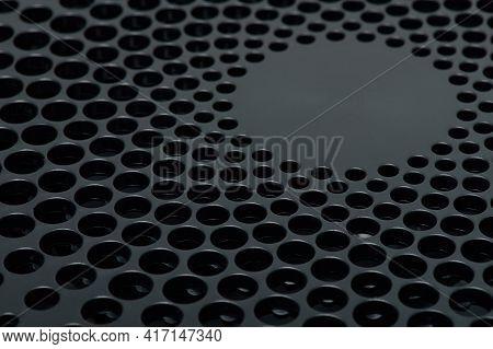 Mesh In Black Plastic Surface