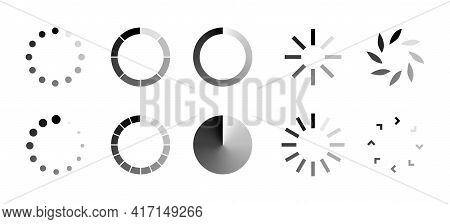 Loading Icon. Set Of Vector Isolated Loading Icons And Signs. Download Progress. Collection Of Load