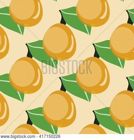Lemon Pattern Print. Vector Yellow Lemon Pattern, Modern