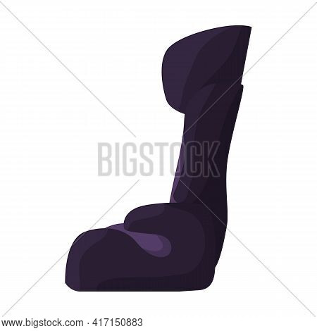 Baby Car Seat Vector Cartoon Icon. Vector Illustration Safety Chair On White Background. Isolated Ca