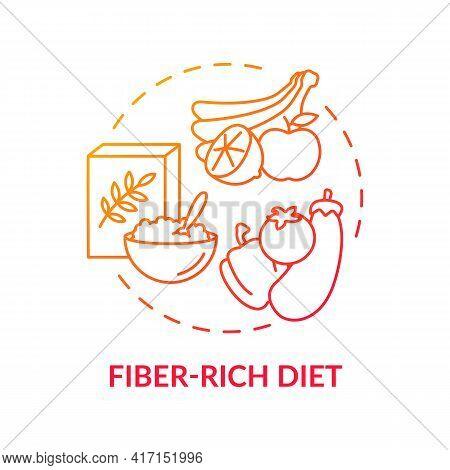 Fiber-rich Diet Concept Icon. Liver Health Requirement Idea Thin Line Illustration. Increasing Fiber