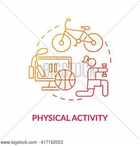 Physical Activity Concept Icon. Liver Health Requirement Idea Thin Line Illustration. Healthy Weight