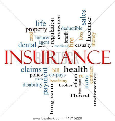 Insurance Word Cloud Concept