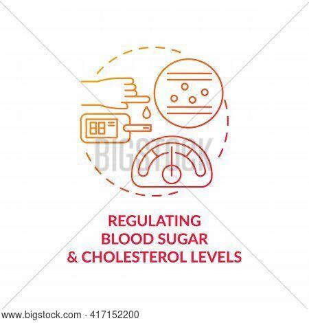 Regulating Blood Sugar And Cholesterol Levels Concept Icon. Liver Function Idea Thin Line Illustrati
