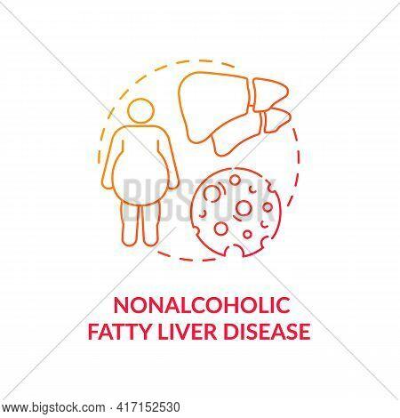 Nonalcoholic Fatty Liver Disease Concept Icon. Liver Disease Type Idea Thin Line Illustration. Stoma