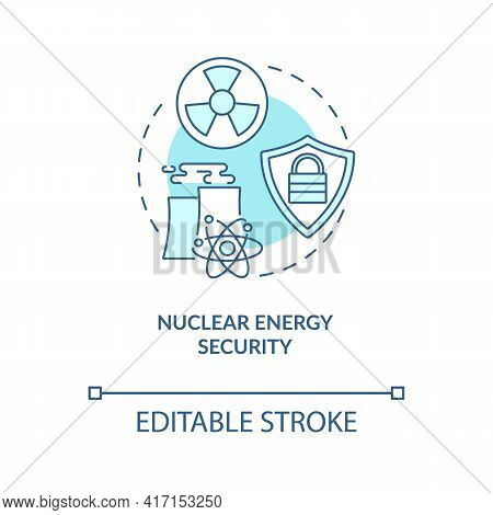 Nuclear Energy Security Concept Icon. Energy Security Type Idea Thin Line Illustration. Unauthorized