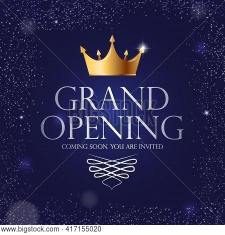 Grand Opening Luxury Invitation Banner Background. Vector Illustration