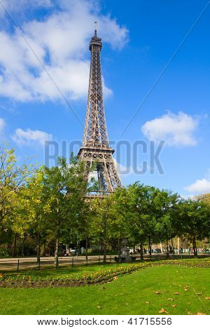 Eiffel Tower at spring, France