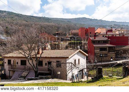 View Of The Picturesque Village Of Puebla De La Sierra, Communitiy Of Madrid, Spain