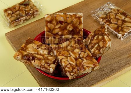 Pe De Moleque - Typical Brazilian Sweet Consumed During The June Party Season Made With Peanuts
