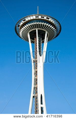 Space Needle In Seattle Close-up View
