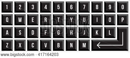 Keypad Keyboard Graphic Design. Graphic Vector Illustration.