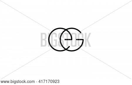Ge Eg Logo Monogram Design Vector Illustration
