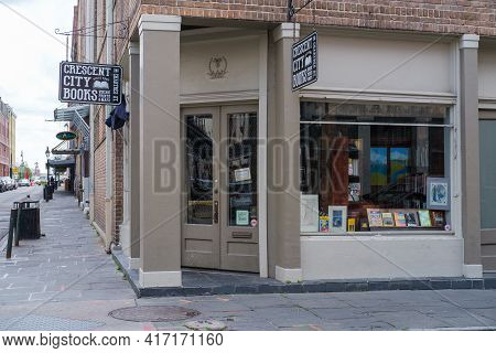 New Orleans, La - February 28: Crescent City Books  On Chartres Street On February 28, 2021 In New O