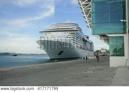 Cruise Ship In The Port Of Salvador