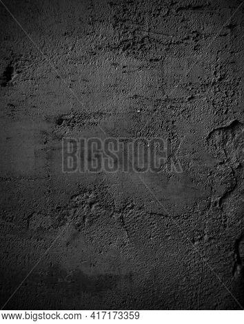 Black Grunge Texture Background. Abstract Dark Grunge Texture On A Black Wall. Black Grunge Texture