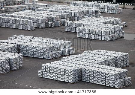 metal warehouse ingots