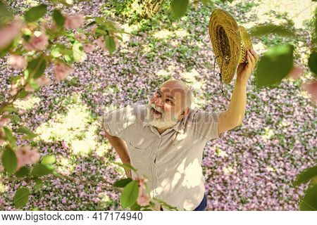 Positive Emotions. Old Man Positive And Optimistic. Good Mood. Happy Old Age. Cheerful Pensioner. Me