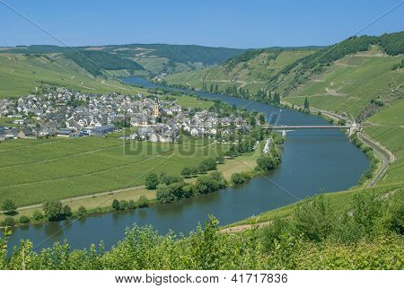 Trittenheim,Mosel River,Germany