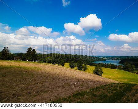 Beautiful View Of Ostrzyckie Lake In Wiezyca Region, Poland