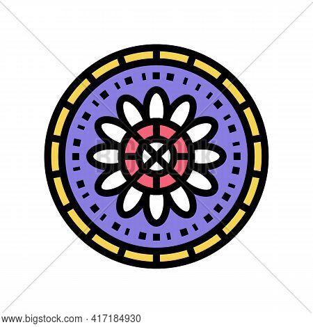 Boho Astrological Color Icon Vector. Boho Astrological Sign. Isolated Symbol Illustration
