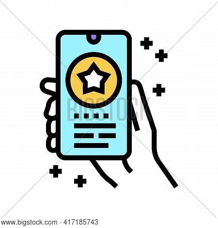 Phone Application Bonus Color Icon Vector. Phone Application Bonus Sign. Isolated Symbol Illustratio