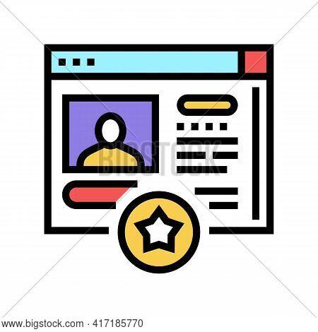 Customer Account Bonus Color Icon Vector. Customer Account Bonus Sign. Isolated Symbol Illustration