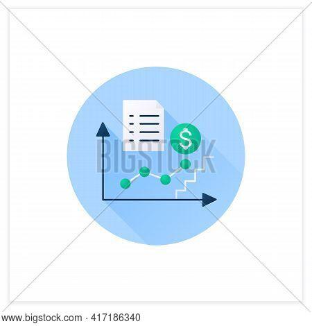 Economic Upturn Flat Icon. Upswing, Growth Period.key Economic Indicators Rise Business Concept. 3d