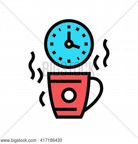 Coffee Break Forum Color Icon Vector. Coffee Break Forum Sign. Isolated Symbol Illustration